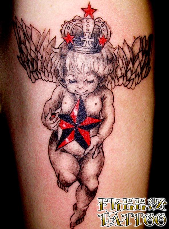 天使.王冠.星.タトゥー.千葉