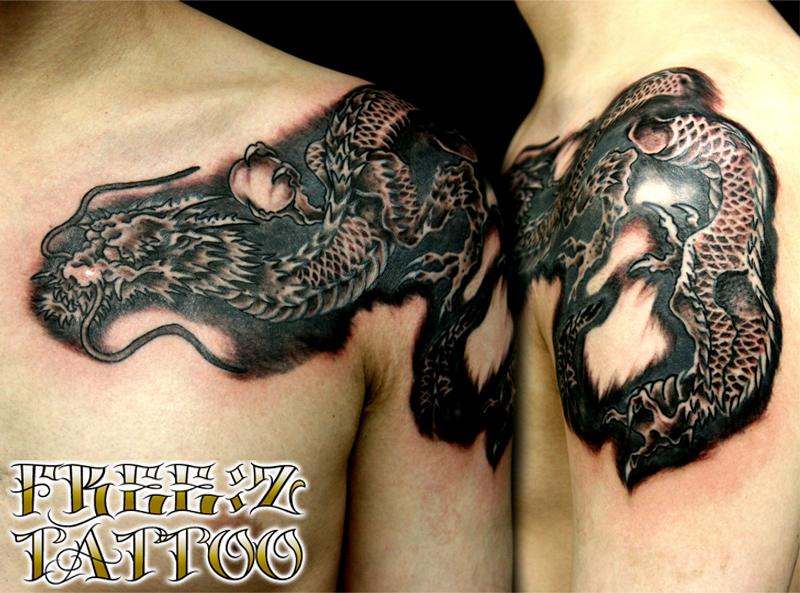 龍.和柄.タトゥー.刺青.千葉