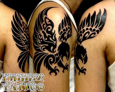 千葉,タトゥー,トライバル,イーグル,刺青